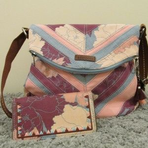 Sakroots Crossbody with matching wallet